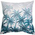 tom tailor kussenovertrek blurred palm forest met palmmotieven (1 stuk) wit