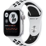 apple watch nike series 6 gps, aluminium kast met nike sportbandje 40 mm inclusief oplaadstation (magnetische oplaadkabel) zilver
