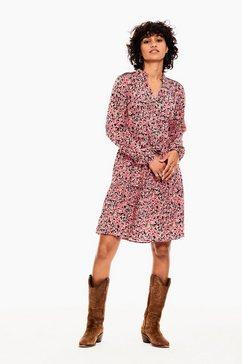 garcia jurk in a-lijn b10081 - 2628-fiery pink met bloemenprint all-over roze