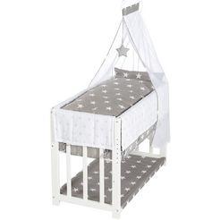roba wieg 3-in-1, little stars, wit in een ouderlijk bed of bank om te bouwen wit