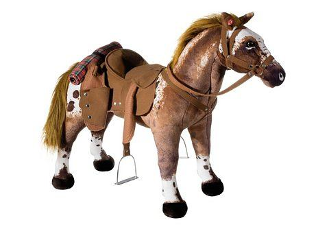 HEUNEC Pluchen dier met geluid Staand cowboy-paard