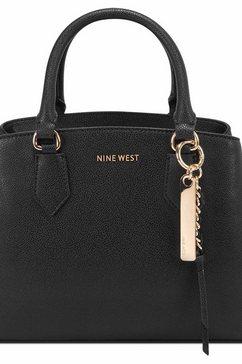nine west tas rose small jet set satchel met praktische indeling zwart