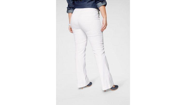 Arizona wijd uitlopende jeans Flare - voor met logoknopen High Waist