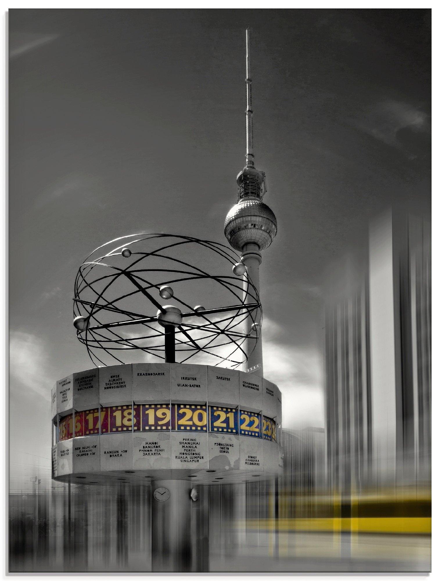 Artland print op glas Dynamische kunst Berlin Alexanderplatz (1 stuk) veilig op otto.nl kopen