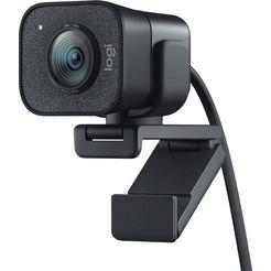 logitech »streamcam« webcam grijs