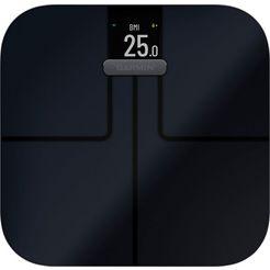 garmin »index s2 smart scale« lichaam-analyse-weegschaal zwart