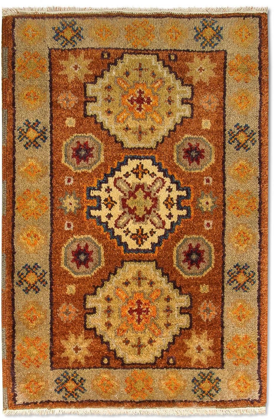 morgenland wollen kleed Kazak Teppich handgeknüpft braun - gratis ruilen op otto.nl