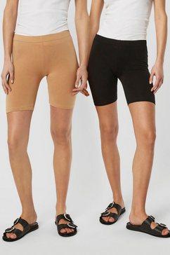 vero moda fietsbroekje vmmaxi biker shorts (set van 2) bruin
