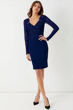 lipsy kanten jurk blauw