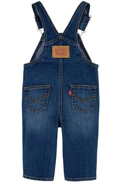 levi's kidswear tuinjeans met verstelbare schouderbanden blauw