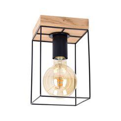 spot light plafondlamp gretter van chic eikenhout,duurzaam met fsc-certificaat, bijpassende lm e27 - exclusief, made in europe bruin