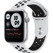 apple watch nike series 6 gps, aluminium kast met nike sportbandje 44 mm inclusief oplaadstation (magnetische oplaadkabel) zilver