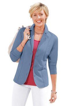 casual looks jerseyblazer in comfortabele en gemakkelijk te onderhouden kwaliteit blauw