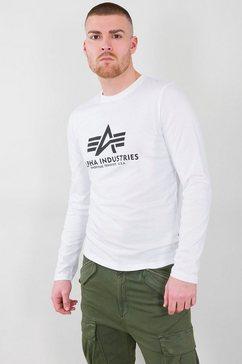alpha industries shirt met lange mouwen »basic t - ls« wit