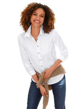 casual looks blouse met lange mouwen wit