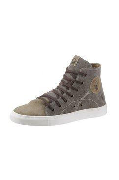 spieth  wensky sneakers met rubberen antislip-loopzool bruin
