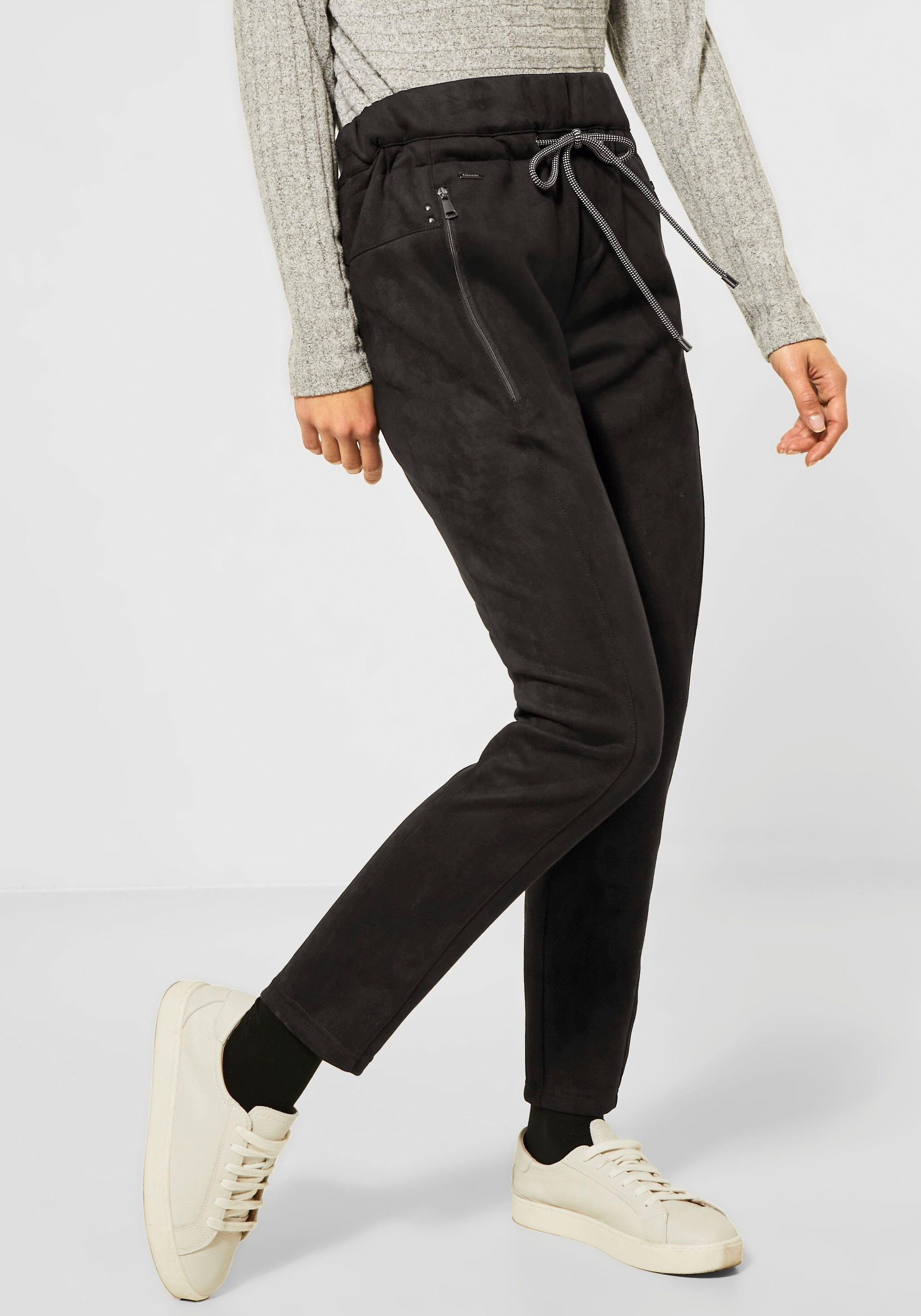 STREET ONE imitatieleren broek »Bonny« bij OTTO online kopen