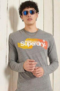 superdry shirt met lange mouwen cl cali ls top grijs