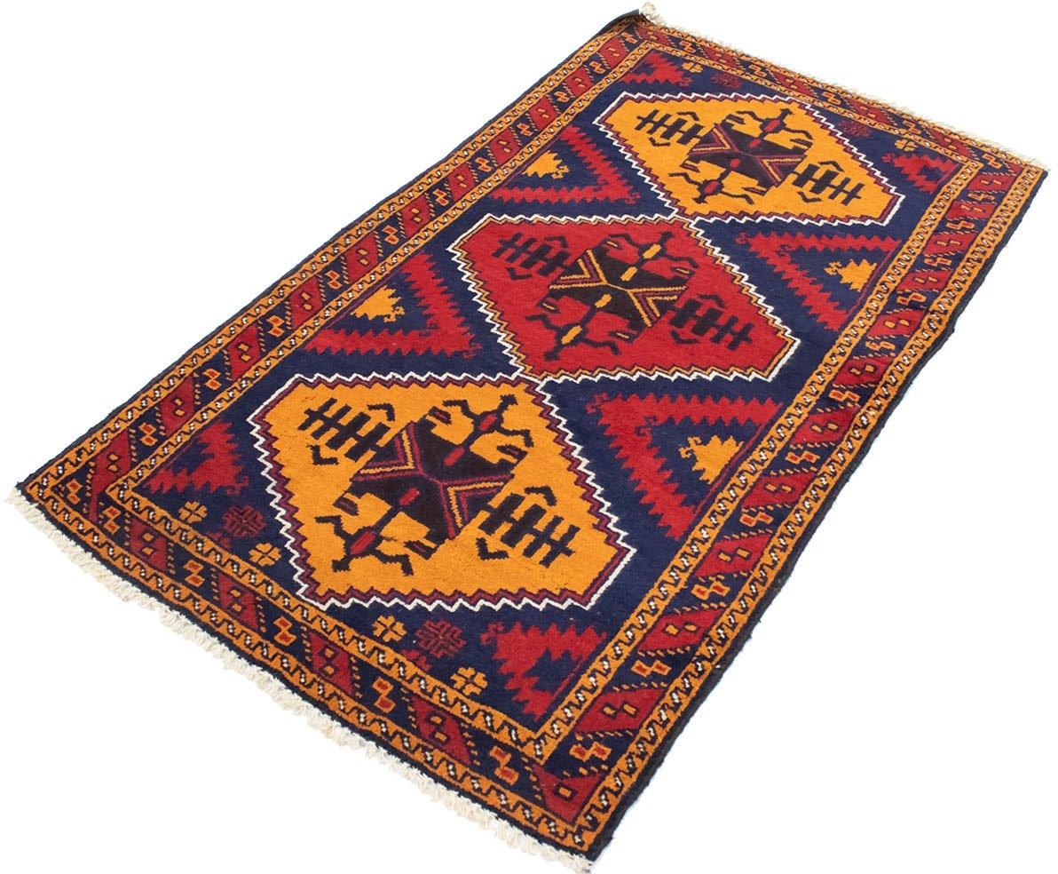 morgenland wollen kleed Belutsch Teppich handgeknüpft blau handgeknoopt - verschillende betaalmethodes