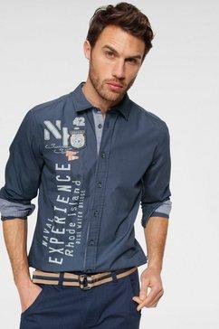 rhode island overhemd met lange mouwen blauw