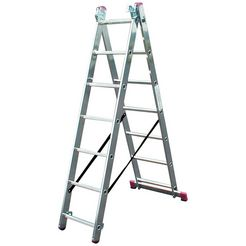 krause multifunctionele ladder »corda« zilver