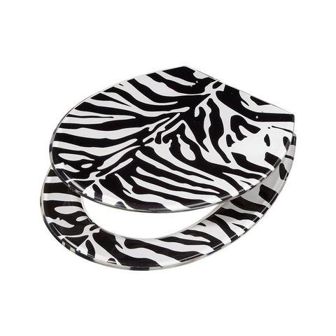Badkameraccessoires Toiletzitting Zebra 743379 zwart