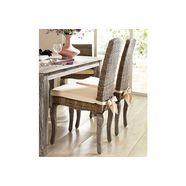 home affaire rotanstoel rotan stoel in een set van 2 (set, 2 stuks) grijs