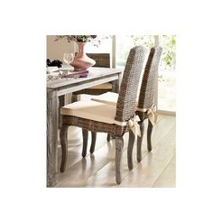stoel, home affaire, 'rotan', set van 2 grijs