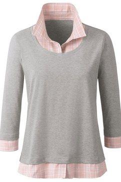 casual looks shirt in 2-in-1-look grijs