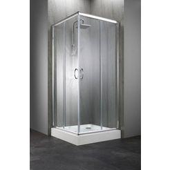 hoekdouchecabine »summer«, hoekinstap, 90 x 90 cm zilver