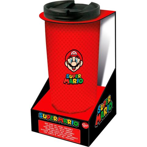 Super Mario Thermo Reisebecher Edelstahl (425 ml) coffee-to-go-beker