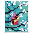 wall-art poster sprookje artprints vogelhuisje poster, artprint, wandposter (1 stuk) multicolor