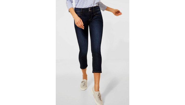 STREET ONE 3/4 jeans Jane met contrastkleurige naden