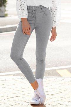 lascana highwaist-jeans grijs