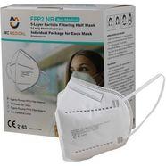 halfgelaatsmasker met filter ffp2 (set, 20 stuks) wit