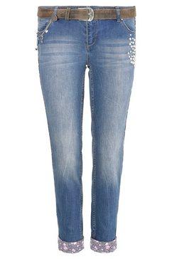 marjo folklore-jeans dames met modieuze voering blauw