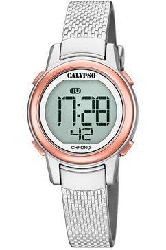 calypso watches chronograaf digital crush, k5736-2 zilver