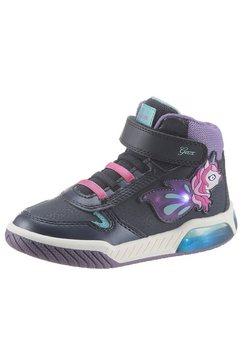 geox kids sneakers j inek girl schoen met knipperlichtje met klittenbandsluiting blauw