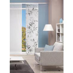 vision s paneelgordijn digitale print bamboe-look 'bambori' digitale print - naar wens in te korten (1 stuk) grijs