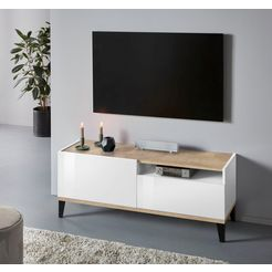 inosign tv-meubel sunrise breedte 120 cm wit