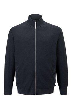 tom tailor men plus cardigan »strickjacke mit stehkragen« blauw