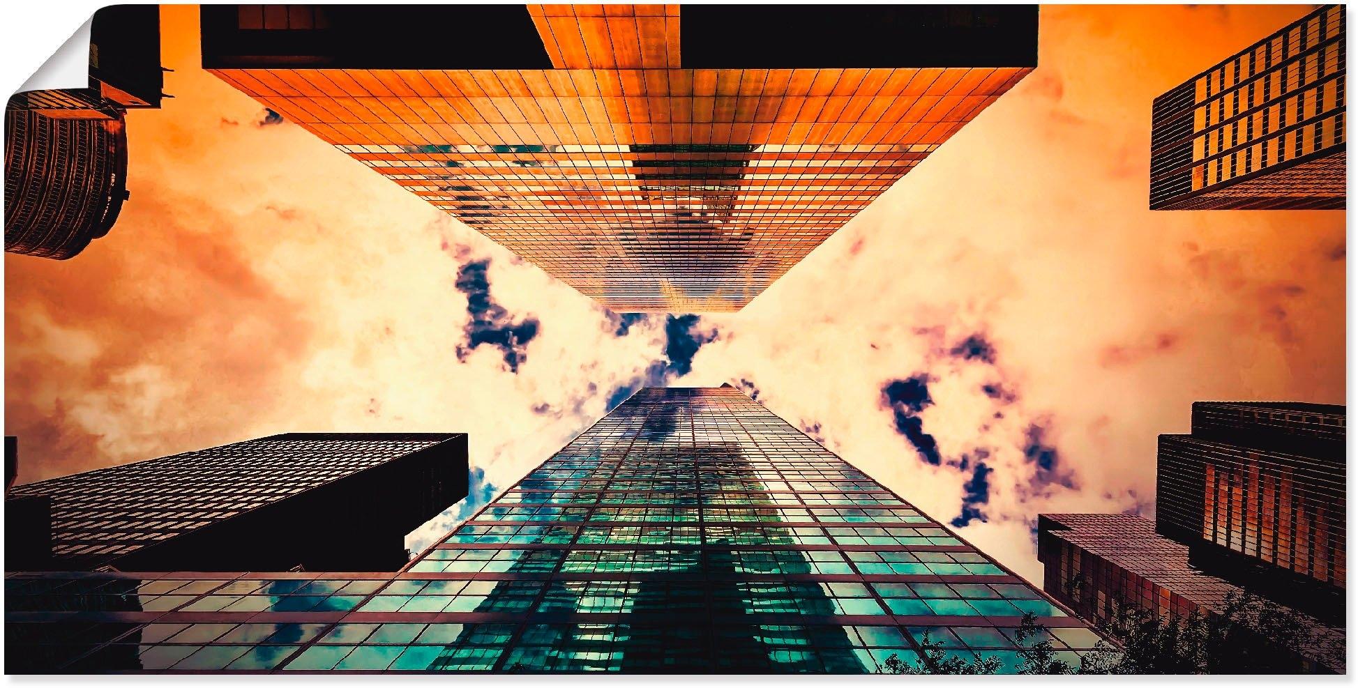 Artland artprint New York flatgebouw in vele afmetingen & productsoorten -artprint op linnen, poster, muursticker / wandfolie ook geschikt voor de badkamer (1 stuk) nu online kopen bij OTTO