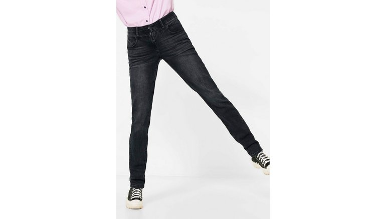 Cecil loose fit jeans Stijl Scarlett met zwarte puntige studs