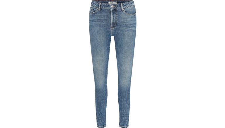 Tommy Hilfiger skinny fit jeans met tommy hilfiger-logobadge