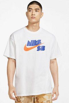 nike sb t-shirt »seasonal logo skate t-shirt« wit