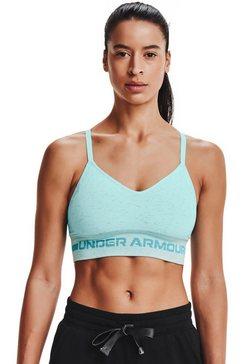 under armour sport-bh ua seamless low long bra blauw