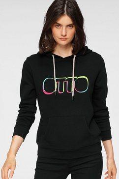 otto hoodie otto logo pride edition van gecertificeerd biokatoen zwart