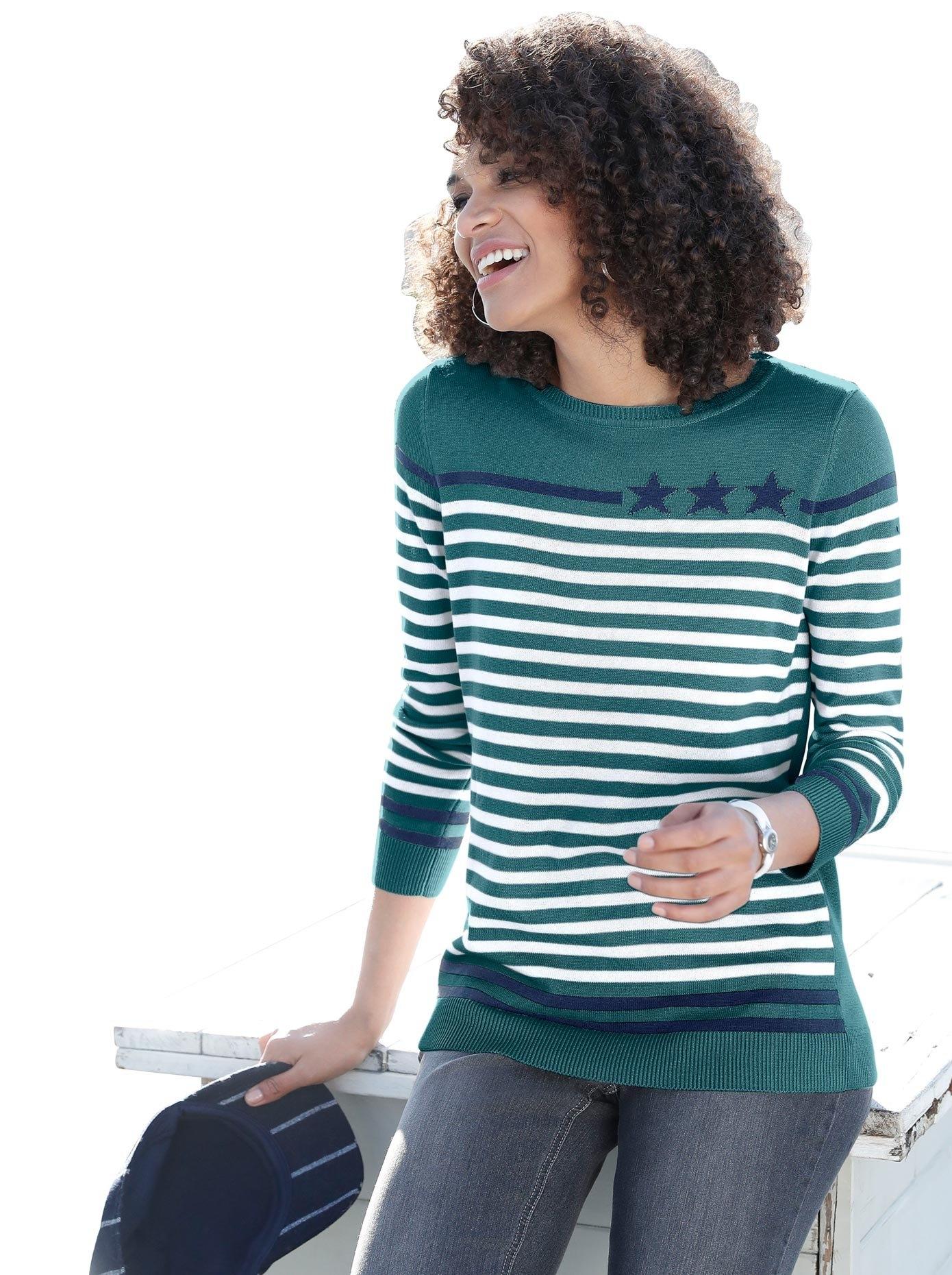Casual Looks trui met ronde hals Trui nu online bestellen