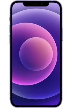 apple smartphone iphone 12 mini, 128 gb, zonder stroom-adapter en hoofdtelefoon, compatibel met airpods, airpods pro, earpods hoofdtelefoon paars
