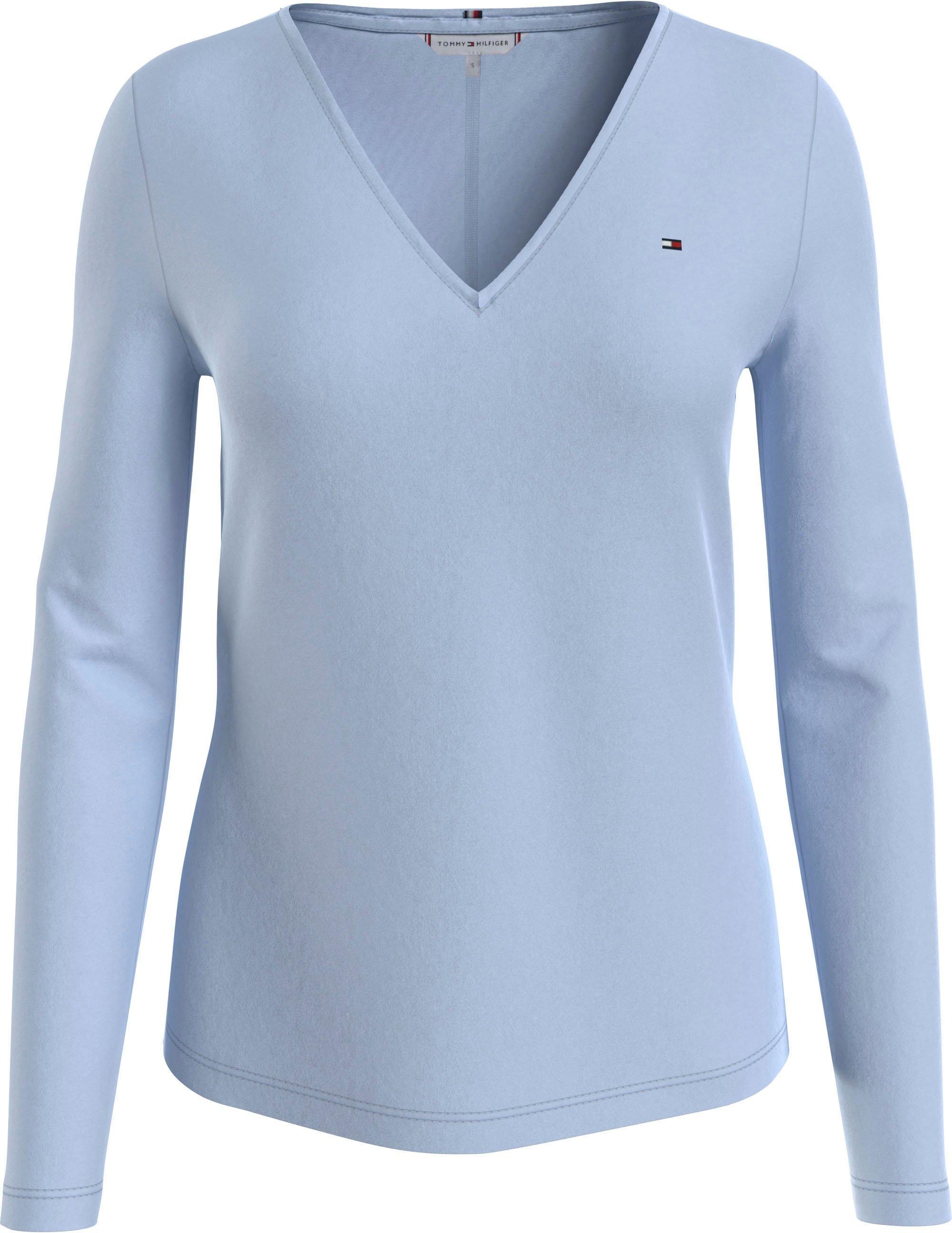 Op zoek naar een Tommy Hilfiger shirt met V-hals REGULAR CLASSIC V-NK TOP LS met tommy hilfiger-merklabel op borsthoogte? Koop online bij OTTO